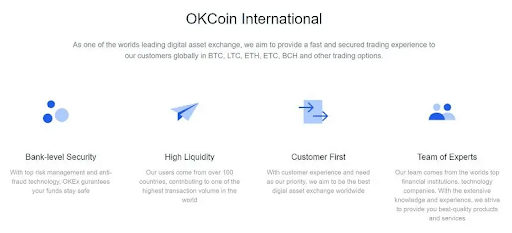 Commissions of OKCoin